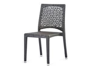 Altea stuhl, Stuhl mit eingewebten Blumenmotiv, für den Außenbereich und die Bar