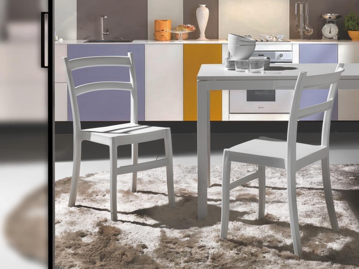 Farbige Polypropylen Stuhl, für Innen und Außen | IDFdesign