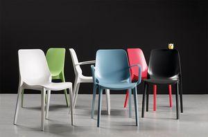 BABY S, Stapelbarer Stuhl aus Technopolymer für den Garten