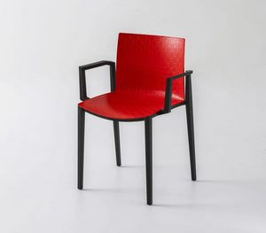 Clipperton B, Stapelbarer Stuhl mit Armlehnen