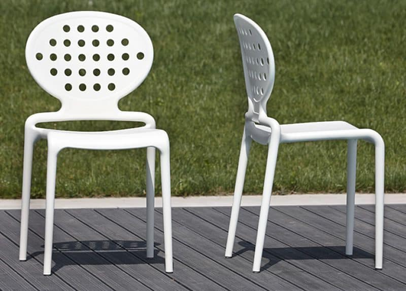 moderne stuhl aus technopolimery f r den au enbereich idfdesign. Black Bedroom Furniture Sets. Home Design Ideas