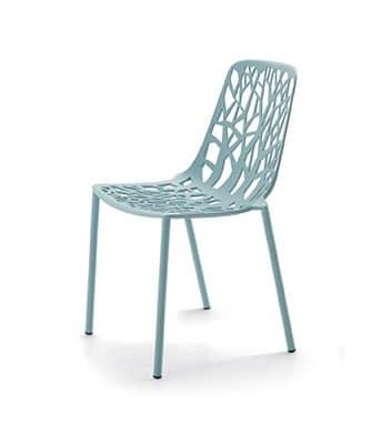 lackiertem aluminium stuhl ideal f r outdoor bar idfdesign. Black Bedroom Furniture Sets. Home Design Ideas