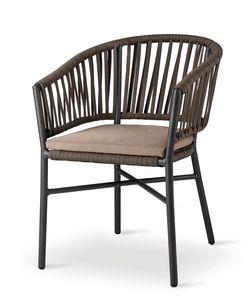 GAIA, Gartenstuhl mit umhüllender Rückenlehne