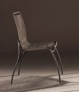 In&Out, Stuhl mit Sitz und Rücken aus Baumwollseil für den Außenbereich