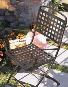 Isabella P, Klappstuhl aus Stahl, für Garten
