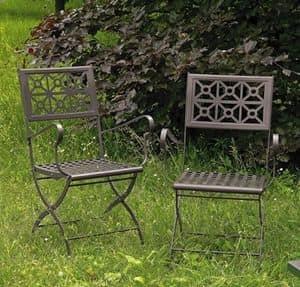 Isotta/P, Klappstuhl aus Stahl für den Garten