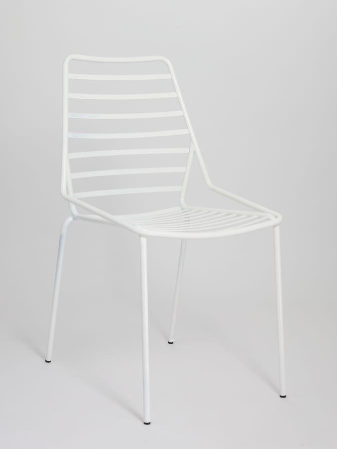 Stapelbare Stuhl Aus Metall Mit Horizontalen Linien Zeichnen Idfdesign