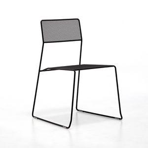 Log mesh, Metallstuhl, stapelbar und einfach zu transportieren, geeignet für den Außenbereich