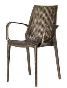 Lucrezia P, Moderne Sessel vollständig in gewebt gemusterten Technopolymer