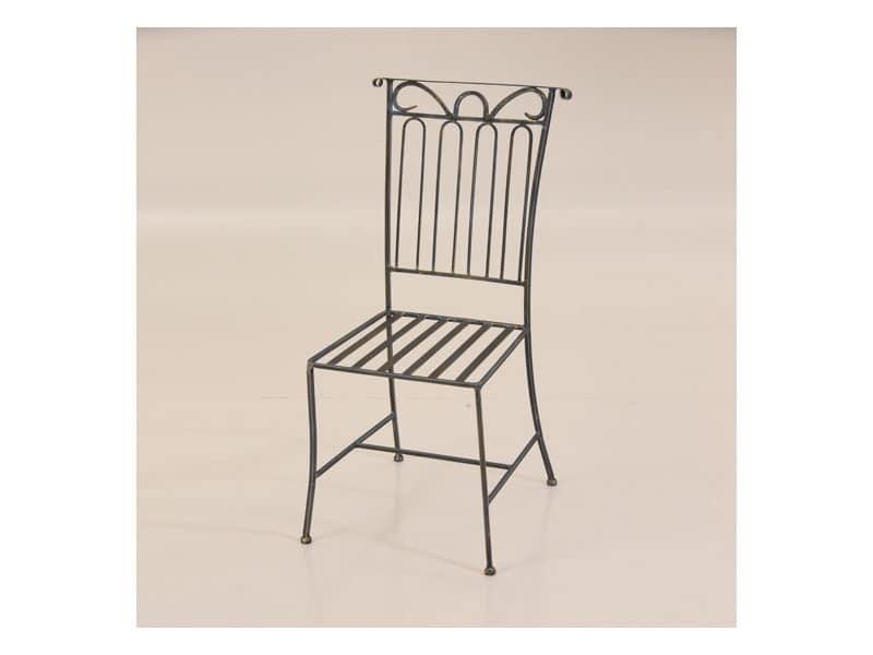 Luna, Stuhl aus Metall für den Außeneinsatz