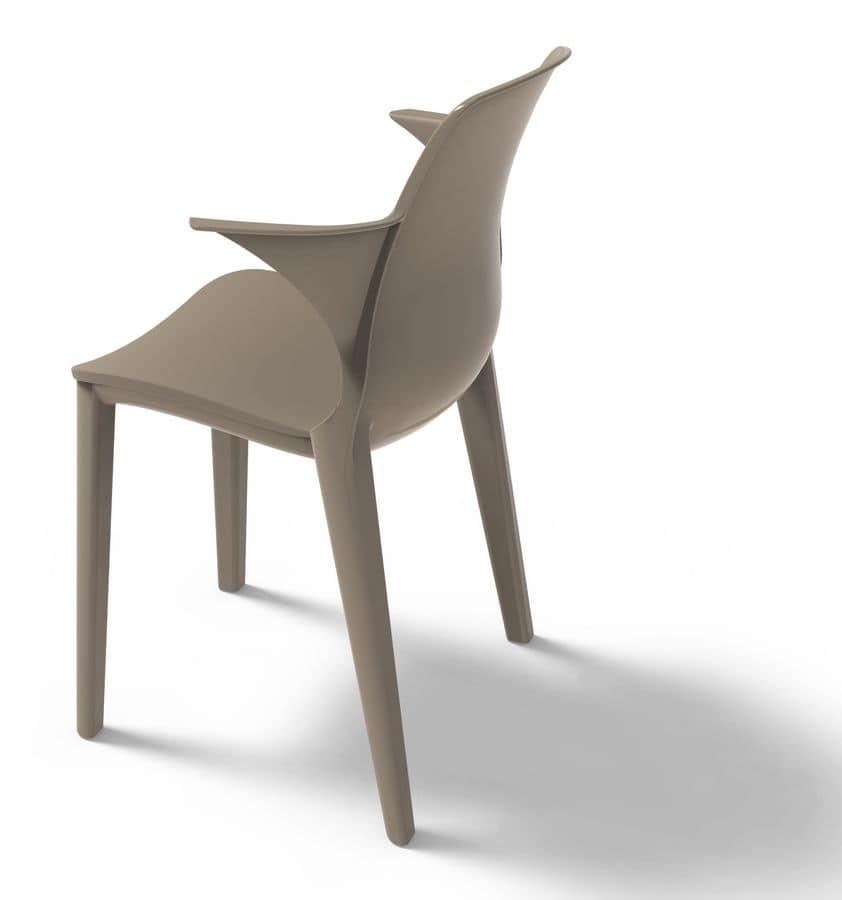 kunststoff stuhl mit armlehnen uv best ndig idfdesign. Black Bedroom Furniture Sets. Home Design Ideas