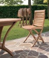 Mirage Klappstuhl, Holz-Klappstuhl, für den Außenbereich