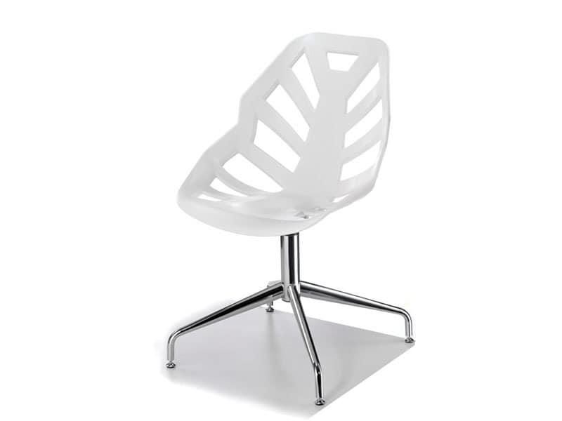 Ninja L, Stuhl mit Metallrahmen, für den Objektbereich