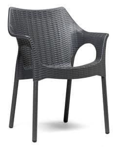 Olimpia Trend, Außen-Sessel mit Webmuster Oberfläche