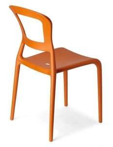 Pepper, Stapelbarer Stuhl aus gefärbtem Technopolymer, auch für Garten