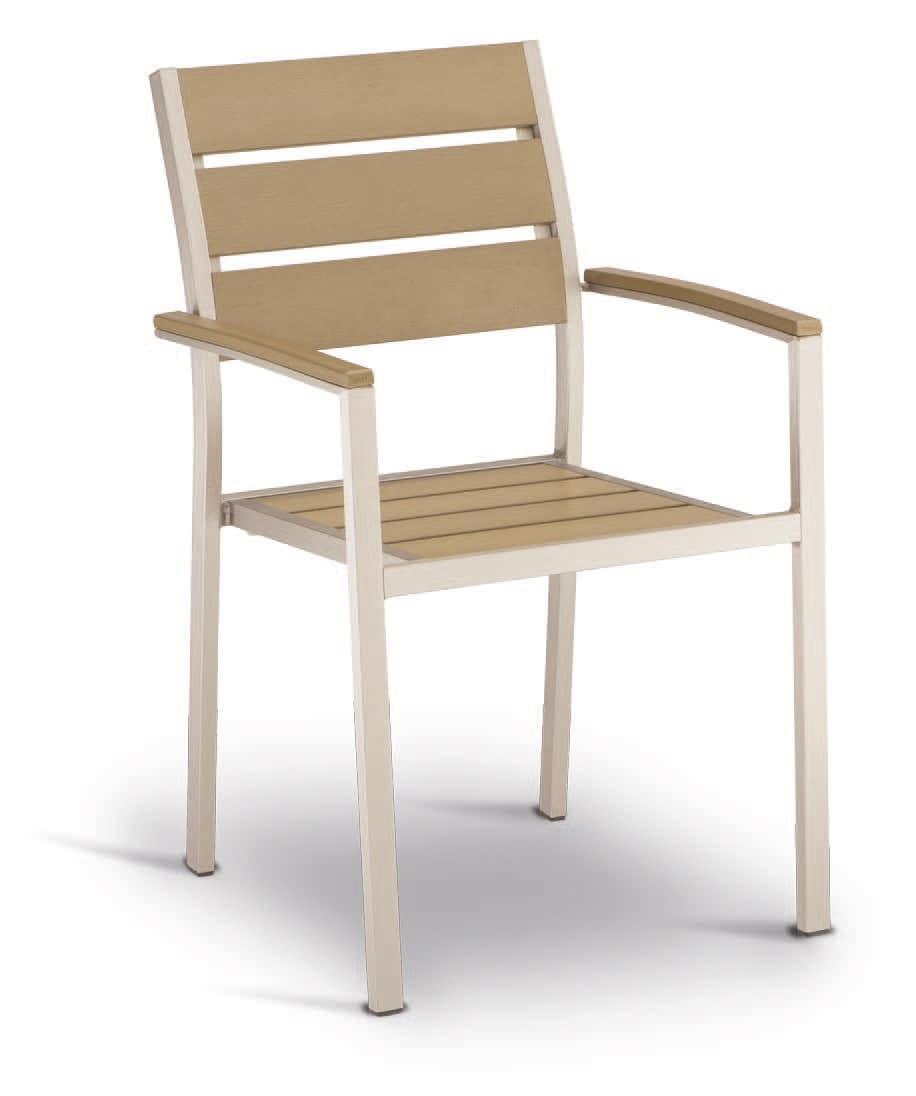 PL 471, Stuhl aus Aluminium und Techno-Holz, Stahl-Effekt