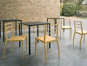 Prisma, Stapelbarer Stuhl in Technopolymer, auch für den Außenbereich