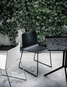 Rama Slide Base Outdoor, Stuhl mit Schlitten, in Polypropylen, für Außen- und öffentliche Plätze