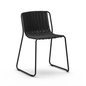 Randa, Lackiertem Metall Stuhl, verdrehte Schale, für Externen