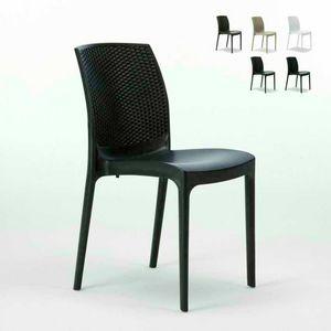 Rattan im Freiengarten stapelbarer Stuhl – S6308, Stapelbar Rattan Stuhl, praktisch zu speichern