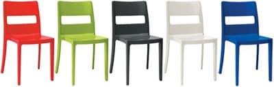 Sai, Stuhl aus Stahltechnopolymer gefertigt, für Küche und im Freien