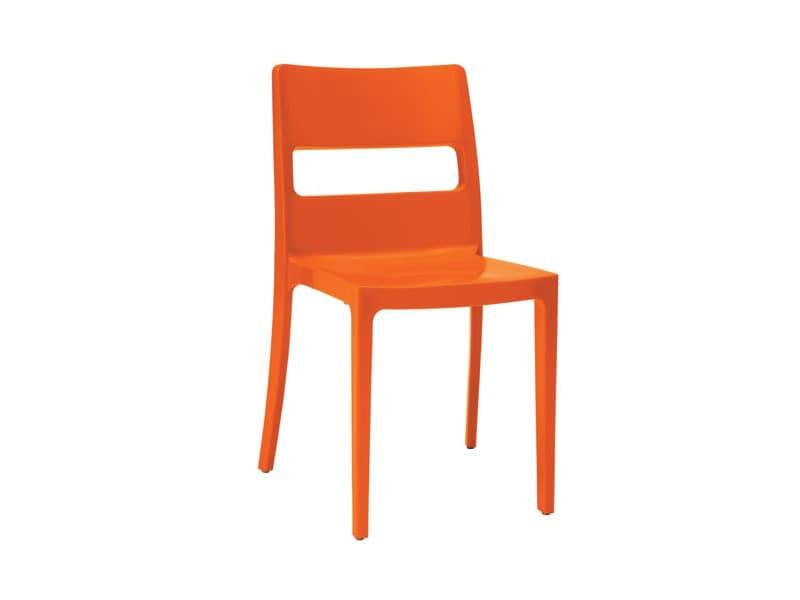 stuhl aus stahltechnopolymer gefertigt f r k che und im freien idfdesign. Black Bedroom Furniture Sets. Home Design Ideas