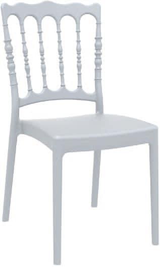 SE 165, Stuhl aus Polypropylen mit matter Oberfläche, für den Außenbereich