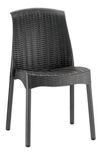 SE 2635, Kunststoff-Stuhl, mit gefälschten Interlacing, für den Außenbereich