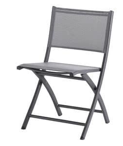 SE 468, Klappstuhl aus Aluminium und textilene, für den Außen