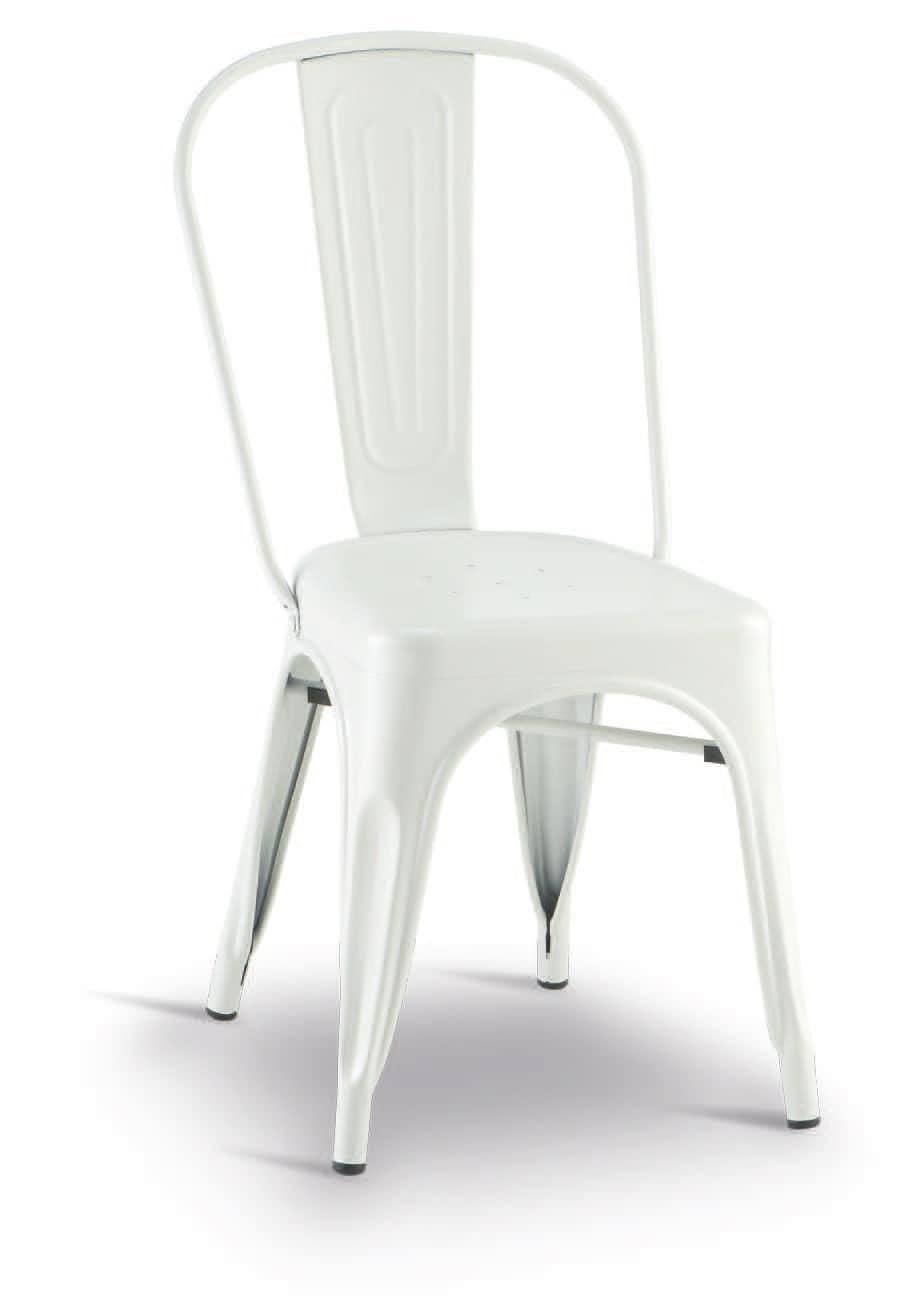 SE 500 / EST, Stapelbarer Stuhl aus verzinktem und lackiertem Metall