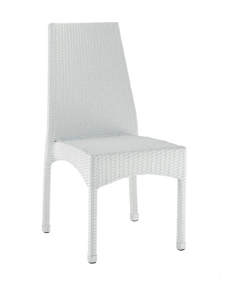 SE 773, Gewebt im Freien Stuhl, mit Beinen aus Aluminium