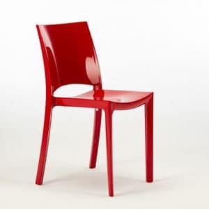 Stapelbarer Stuhl aus Polypropylen Sunshine - S6215, Stapelbarer Stuhl aus Polypropylen, zertifiziert, für den Außenbereich