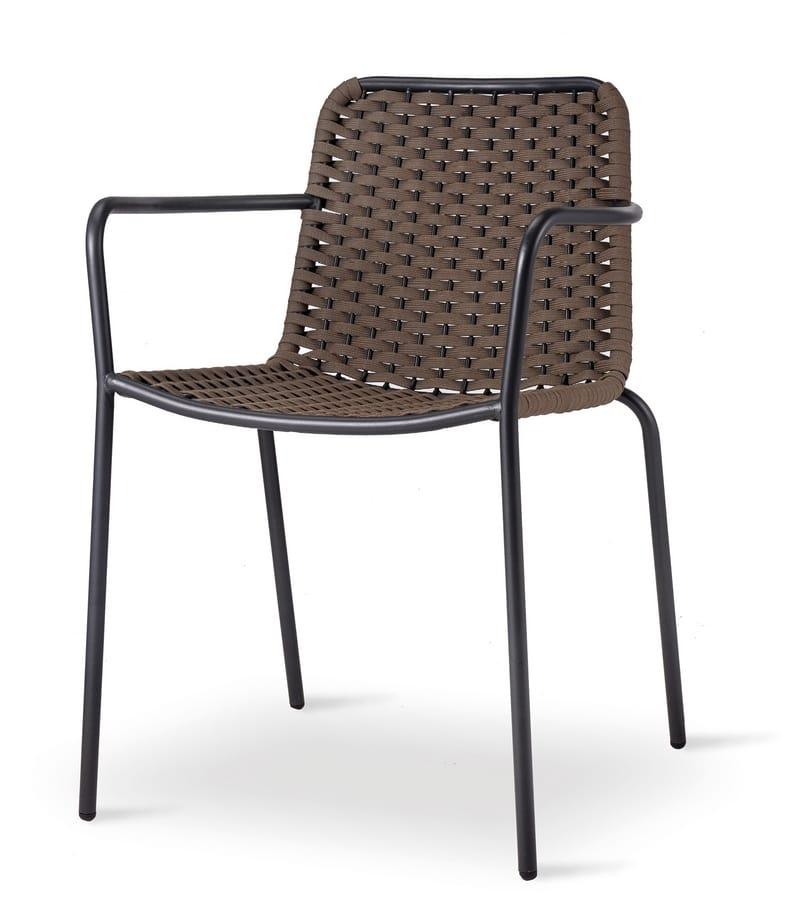 TIZI, Geflochtener Stuhl im Freien
