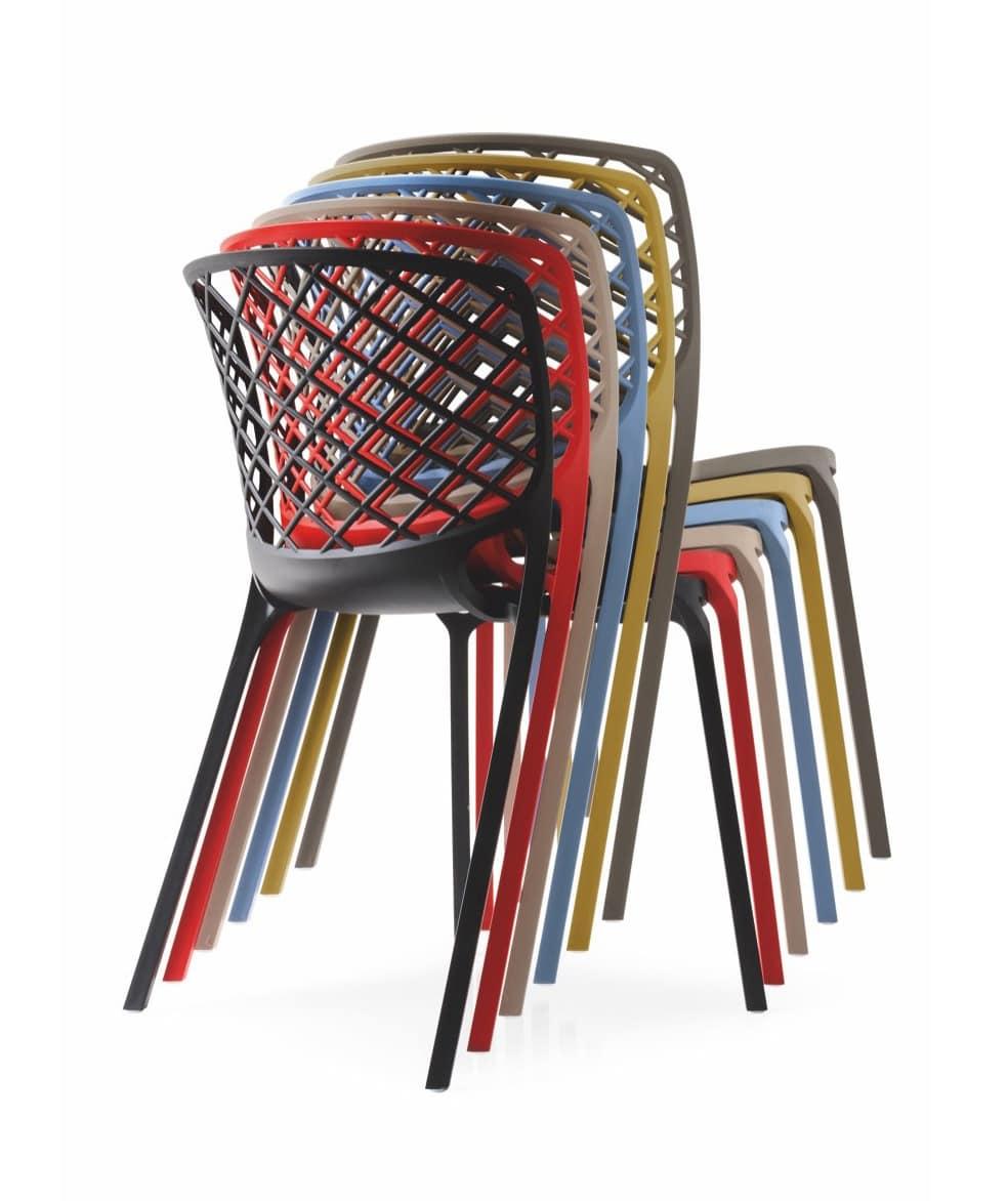 stapelbarer stuhl aus nylon leicht und langlebig idfdesign. Black Bedroom Furniture Sets. Home Design Ideas