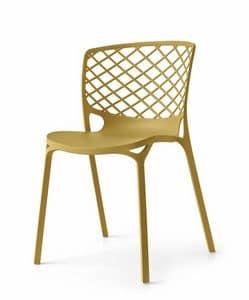 Audace, Stapelbarer Stuhl aus Nylon, leicht und langlebig