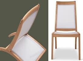 Wave Stuhl - textilene, Chair in Holz und Kunststoff, für den Außenbereich