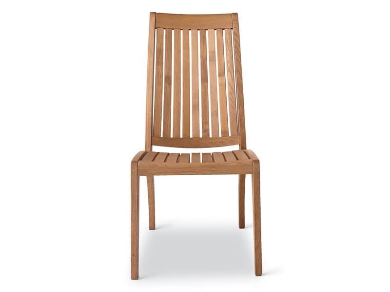Wave Stuhl, Beständigen Holzstuhl, Rückenlehne mit Vertikal-Lamellen
