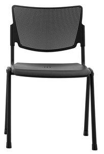 Aria, Stapelbarer Stuhl, für Konferenz, ausgestattet mit Tablette