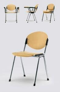 Bonn wood, Stuhl für Konferenzraum, Sitz und Rückenlehne in Buche natur