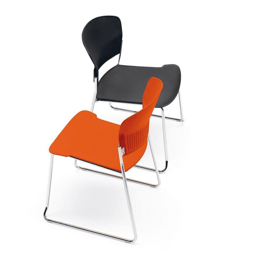 Moderne Sessel, Copolymer Sitz, für Büros und Wartebereiche | IDFdesign
