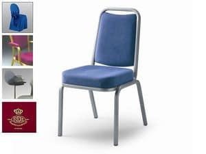 Fiora 60/1, Stuhl in Stoff oder Leder, feuerfeste