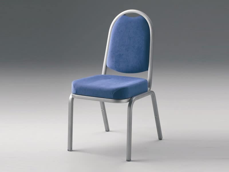 Fiora 60/3, Gepolsterte stapelbarer Stuhl, verschiedene Optionen zur Verfügung