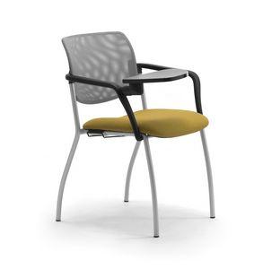 Laila 4G, Stuhl mit Armlehnen und Schreibplatte