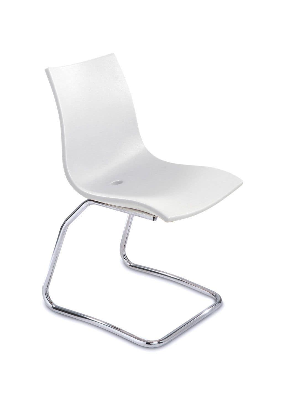 lehrstuhl f r k che in stahl und polyethylen f r das. Black Bedroom Furniture Sets. Home Design Ideas