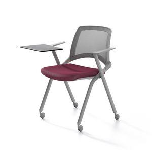 Oplà mesh, Metallstuhl, Sitz gepolstert, Netzrücken