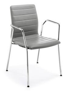 Q2 IM, Gepolsterter Stuhl mit Armlehnen für Konferenzen