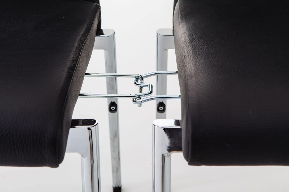 Evosa Congress 08/3, Chair Mehrzweck-Stahl, Sitz gepolstert, anatomisch zurück, für Konferenzen, Tagungen, Bankette