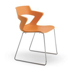 UF 168 / T, Stapelbarer Stuhl mit Kufen und PVC-Hülle