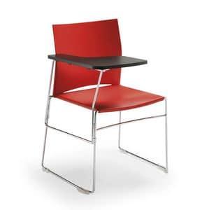 Welcome 01PP, Stuhl mit klappbarer Schreibtablett