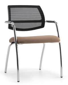 Air One Soft 04, Moderne Sessel mit Netzrücken, für Kongresse